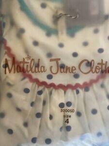 NIB Size 4 Matilda Jane Cool To Be Smart Dress NWT Pencil School Dress