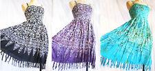 Rayon Sleeveless Boho, Hippie Dresses for Women