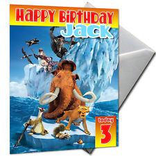 Era GLACIALE-Personalizzato Compleanno Carta di grandi dimensioni A5 + BUSTA