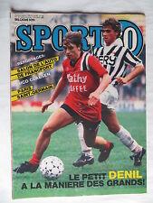 Sport 80 n°39 – 25 septembre  1985 – Nico Claesen, Denil,