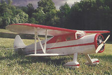 1/8 Scale Waco Model E Biplane Plans, Templates and Instructions 52ws