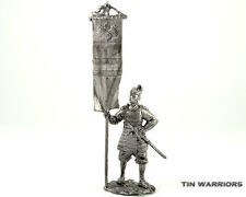 Japan. Warrior-bearer 14 cent Tin toy soldier miniature figurine metal sculpture