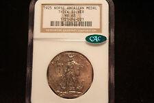 "1925 Norse Amer. Medal NGC MS63 CAC ""Thick Silver"" ""Viking Warrior & Ship"""