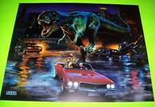 Jurassic Park The Lost World Pinball Machine Translite Artwork 1997 Original NOS