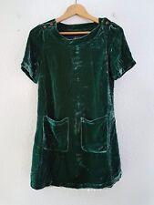 Vestido terciopelo verde. Mujer. Marca: Diquesí. Talla M