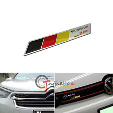 1x Aluminum Plate Germany Flag Sline Emblem Badge Front Grille Side Fender Trunk
