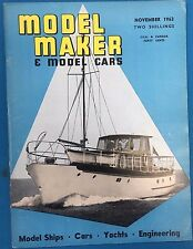 MODEL MAKER & MODEL CARS Magazine November 1963 published in Great Britain