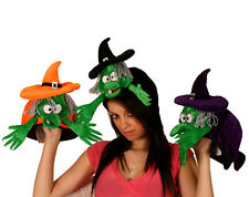 LADIES KIDS FUN SILLY FLYING WITCH HAT HALLOWEEN FANCY DRESS COSTUME NEW