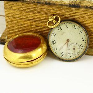 La Rochette antique open face mechanical Swiss made pocket watch
