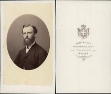 Grillet, Naples, portrait d'homme Vintage CDV albumen carte de visite C