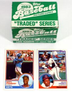 1983 Topps Traded Baseball Opened Factory Set (132) Franco Darryl Strawberry XRC