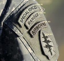 KANDAHAR WHACKER USASOC RANGERS ACU hook/loop SPECIAL FORCES ABN SFG INSIGNIA