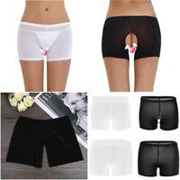 Women Sheer Mesh Panties See Through Knickers Boy Shorts Lingerie Sexy Underwear