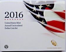 2016 US MINT ANNUALUNC  DOLLAR SET INCLUDING UNC $1 SILVER EAGLE