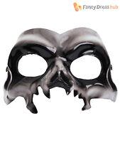 Adults Skull Eye Mask Mens Ladies Halloween Skeleton Fancy Dress Accessory