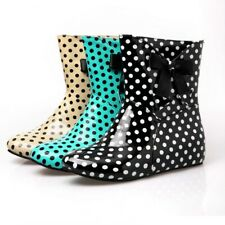 Rainy Days Bowknot Colorful Waterproof Rubber Rain Boots Women Casual Shoes FS