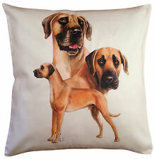 Great Dane Fawn Group Breed of Dog Themed Cotton Cushion Cover - Perfect Gift