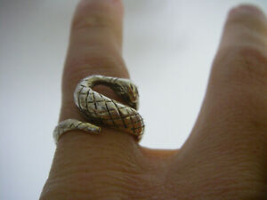 bague règlable ajustable serpent Taille 50 51 52 53 ARGENT MASSIF 925 N°202