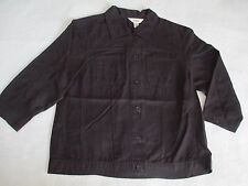 Talbots Petites Black Dress Shirt Top Jacket Size 2P Small