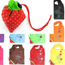 Faltbare Einkaufstasche Erdbeere Einkaufsbeutel Tragetasche Shopper Tasche Bag#