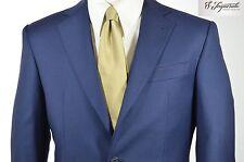 Abito uomo sartoriale primavera estate fresco lana blu S.Imparato cod. 643 tg 52