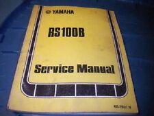 Yamaha Shop Service Repair Manual 1975 RS100B RS100 B