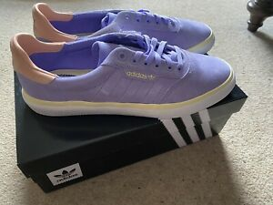 BNIB Adidas Nora Vasconcellos 3MC Skateboarding Shoes Purple Pink Yellow Size 9