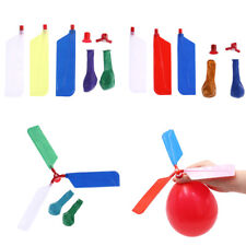 10pcs balls balloons helicopter flying with whistle kids outdoor play toy~OY