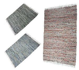 Handwebteppich Teppich CHINDI Läufer Webteppich Flickenteppich 120 x 80 cm