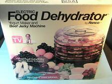 Ronco Deluxe 5 Tray Food Dehydrator Yogurt Maker Beef Jerky Machine Model 1876