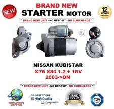 FOR NISSAN KUBISTAR 1.2 + 16V 2003-ON STARTER MOTOR 1.1 kW 9 Teeth BRAND NEW