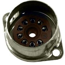 "9 Pin Belton Micalex Tube Socket, Solder Mount w Shield Base, .75"" Chassis Hole"
