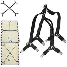 Hot Fitted Bed Mattress Sheet Clips Grippers Straps Suspender Fasteners Holder