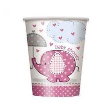 Baby Shower Elefant Becher Pink 8er Pack