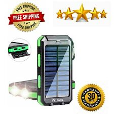 Solar Charger Portable Outdoor Waterproof Mobile Power Bank Camping Dual USB