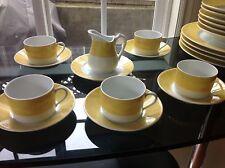 Charled Field HAVILAND PARLON LIMOGES Yellow EDITE PAR Cup Saucer Creamer