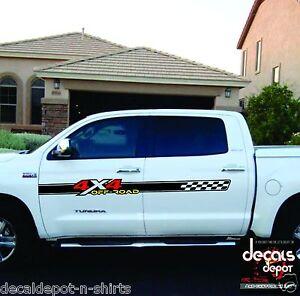 2 - 4x4 Sticker Decal Sticker for Chevy Silverado GMC Sierra Toyota Tundra ETC.