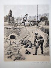 c71-88 Gravure contes & récits d'Alsace Judt le célèbre brigan Sudgovien