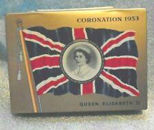 Queen Elizabeth II 1953 Coronation flat 50's Cigarette tobacco tin