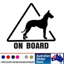 GREAT DANE - ON BOARD  Dog  CAR Sticker Decal