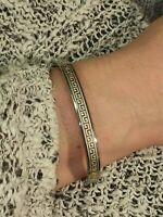 Greek Jewelry 24k GOLD Meander Bracelet GIFT Wife Women Friend Girlfriend HANDMD