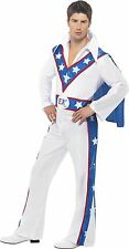 Evel Knievel Greatest 1970's Icons Costume Party Funny Fancy Dress Large Chest 44 Waist 38 Inside Leg 33