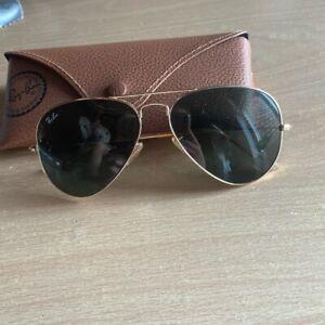 Gold ray ban Aviators sunglasses unisex