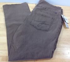 NEW Jag Peri Straight Pull On Jeans High Rise Straight Leg Truffle Brown 20W NWT
