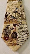 Museum Artifacts Mens Neck Tie 1470 A.D. Manuscript Venetian Gold Silk Excellent