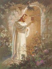 Warner Sallman CHRIST AT HEARTS DOOR 20x16 Canvas Art Print Jesus Knocking Heart