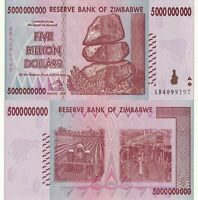 ZIMBABWE 5 (BILLION) 5,000,000,000 DOLLARS 2008 P-84 NEW- UNC