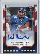 Reid Harrison-Ducros 2016 Upper Deck #8 Rookie Autograph, Boise State/Duquesne