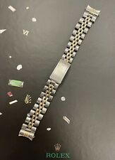 Rolex Jubilee 13mm Ladies 14k Two Tone Stainless Steel Band Made in Mexico 6917