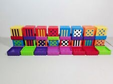 Sassy Blocks Silly Sensory Blocks - Shapes & Numbers w/ Stay Trays - 40 Pieces!